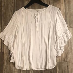LC Lauren Conrad white blouse